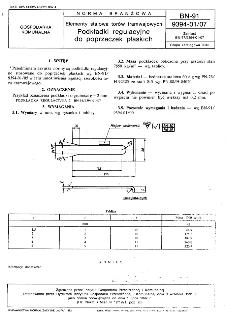 Elementy stalowe torów tramwajowych - Podkładki regulacyjne do poprzeczek płaskich BN-91/9394-01/07