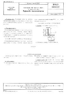 Kształtowniki dla lotnictwa z blach ze stopów aluminium - Kątowniki równoramienne BN-63/0834-02