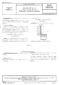 Kształtowniki dla lotnictwa z blach ze stopów aluminium - Wymagania i badania BN-63/0834-03