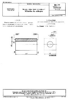 Elementy stalowe torów tramwajowych - Wkładka do odbojnic BN-77/9394-01 Arkusz 08