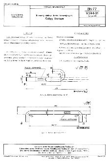 Elementy stalowe torółw tramwajowych - Kotwy torowe BN-77/9394-01 Arkusz 09