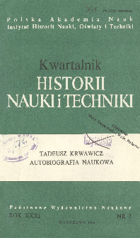 Kwartalnik Historii Nauki i Techniki R. 31 nr 2/1986