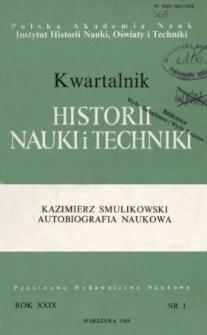 Kwartalnik Historii Nauki i Techniki R. 34 nr 1/1989