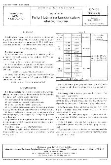 Aluminium - Folia i taśma na kondensatory elektrolityczne BN-83/0832-07