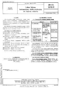 Lakier ftalowy karbamidowy elektroizolacyjny do klejenia mikanitu BN-73/3078-11