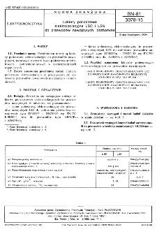 Lakiery poliestrowe elektroizolacyjne LSC i LSN do przewodów nawojowych, bezbarwne BN-81/3078-15