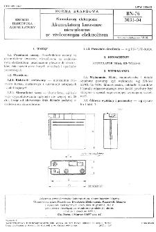 Akumulatory elektryczne - Akumulatory kwasowe niewylewne ze zżelowanym elektrolitem BN-76/3031-04