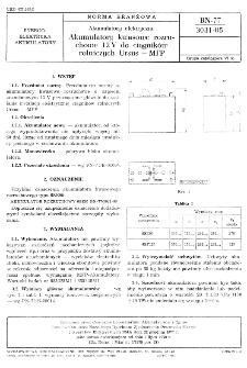 Akumulatory elektryczne - Akumulatory kwasowe rozruchowe 12 V do ciągników rolniczych Ursus - MFP BN-77/3031-05