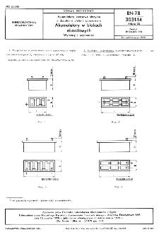 Akumulatory kwasowe stacyjne z dodatnimi płytami pancernymi - Akumulatory w blokach ebonitowych - Wymiary i pojemności BN-78/3031-14 Arkusz 02