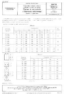 Akumulatory kwasowe stacyjne z dodatnimi płytami pancernymi - Ogniwa w naczyniach z tworzywa sztucznego - Wymiary i pojemności BN-78/3031-14 Arkusz 03