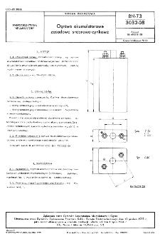 Ogniwa akumulatorowe zasadowe srebrowo-cynkowe BN-73/3032-08