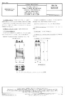 Akumulatory elektryczne - Ogniwa i baterie akumulatorowe zasadowe niklowo-kadmowe, z płytami kieszonkowymi niskooporowe, rozruchowe typu SI-80, SI-150, SI-200 BN-76/3032-21