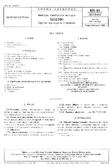 Maszyny elektryczne wirujące - Szczotki - Ogólne wymagania i badania BN-84/3010-04