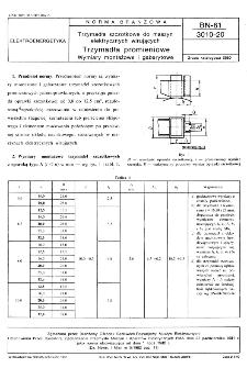 Trzymadła szczotkowe do maszyn elektrycznych wirujących - Trzymadła promieniowe - Wymiary montażowe i gabarytowe BN-81/3010-20
