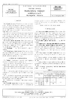 Osprzęt lotniczy - Komutatory maszyn elektrycznych - Wymagania i badania BN-88/3800-01