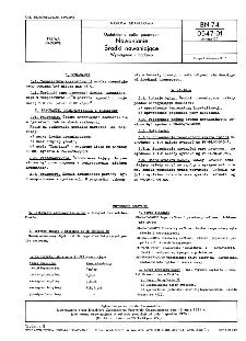 Uzdatnianie paliw gazowych - Nawanianie - Środki nawaniające - Wymagania i badania BN-74/0547-01 Arkusz 02