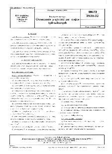 Przetwory naftowe - Oznaczanie prężności par olejów hydraulicznych BN-73/0535-32