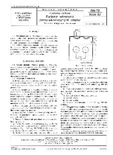 Przetwory naftowe - Badanie własności przeciwkorozyjnych olejów - Metoda statyczna, kroplowa BN-73/0535-33