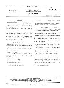 Przetwory naftowe - Oznaczanie własności dyspergujących BN-74/0535-39