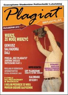 Plagiat : czasopismo Studentów Politechniki Lubelskiej nr 2(10) październik 2010