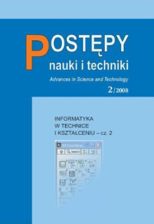 Postępy Nauki i Techniki = Advances in Science and Technology 2/2008