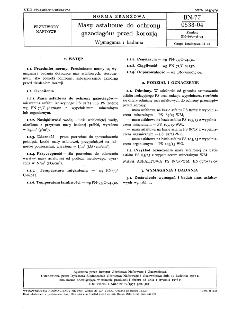 Masy asfaltowe do ochrony gazociągów przed korozją - Wymagania i badania BN-77/0538-04