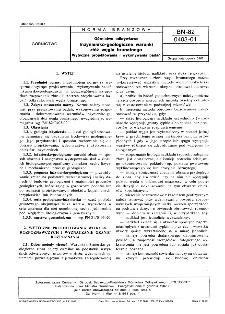 Górnictwo odkrywkowe - Inżyniersko-geologiczne warunki złóż węgla brunatnego - Wytyczne projektowania i wykonywania badań BN-82/0403-01