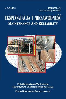 Eksploatacja i Niezawodność = Maintenance and Reliability Nr 3 (51)2011