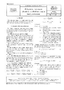 Połączenia kotwiowe zbrojenia z obudową szybu - Zasady projektowania BN-76/0436-01
