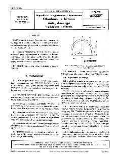Wyrobiska korytarzowe i komorowe - Obudowa z betonu natryskowego - Wymagania i badania BN-78/0434-08