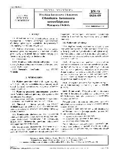 Wyrobiska korytarzowe i komorowe - Obudowa betonowa monolityczna - Wymagania i badania BN-79/0434-09
