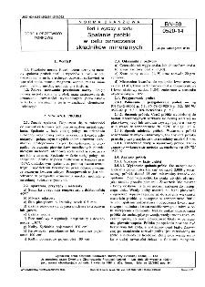 Torf i wyroby z torfu - Spalanie próbki w celu oznaczania składników mineralnych BN-80/0520-14