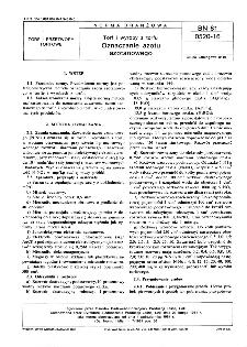 Torf i wyroby z torfu - Oznaczanie azotu azotanowego BN-81/0520-16