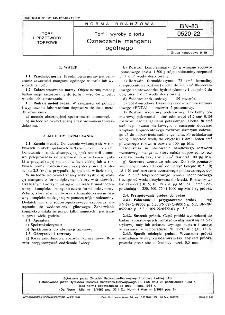 Torf i wyroby z torfu - Oznaczanie manganu ogólnego BN-83/0520-22