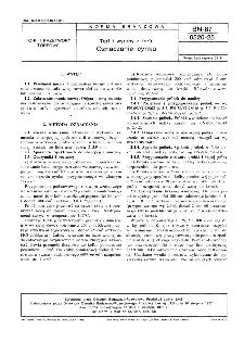 Torf i wyroby z torfu - Oznaczanie cynku BN-87/0520-25