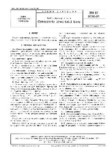Torf i wyroby z torfu - Oznaczanie zawartości boru BN-87/0520-26