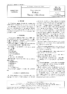 Gazy naturalne - Podział - Nazwy i określenia BN-74/0460-04