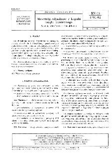 Materiały odpadowe z kopalń węgla kamiennego - Nazwy, określenia i klasyfikacja BN-73/6700-0