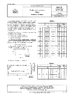 Wyroby z topionego bazaltu - Płytki - Podstawowe parametry BN-73/6791-04