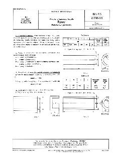 Wyroby z topionego bazaltu - Rynny - Podstawowe parametry BN-73/6791-05