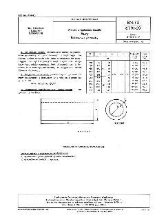 Wyroby z topionego bazaltu - Rury - Podstawowe parametry BN-73/6791-09