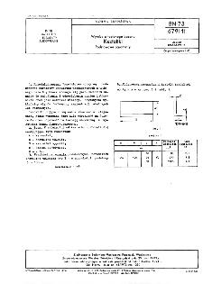 Wyroby z topionego bazaltu - Kształtki - Podstawowe parametry BN-73/6791-11