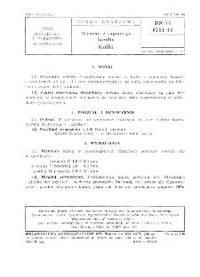 Wyroby z topionego bazaltu - Kulki BN-75/6791-14