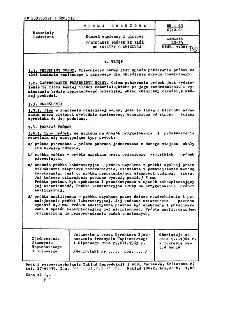 Kamień wapienny i gipsowy - Pobieranie próbek ze złóż do analizy chemicznej BN-63/6710-01