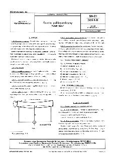 Krzem polikrystaliczny - Metody badań BN-81/0894-11