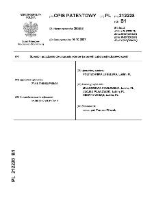 Sposób i urządzenie do usuwania odorów jonowych substancji odorotwórczych : opis patentowy nr 212228