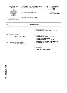 Konik obrabiarki : opis patentowy nr 213608
