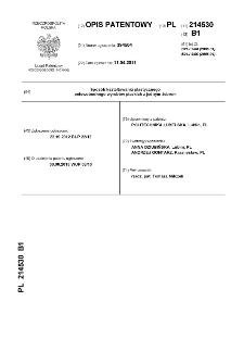 Sposób kształtowania plastycznego półswobodnego wyrobów płaskich z jednym żebrem : opis patentowy nr 214530