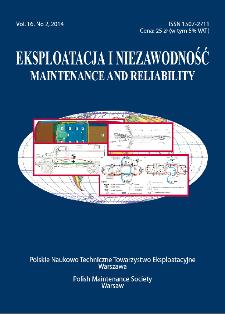 Eksploatacja i Niezawodność = Maintenance and Reliability Vol. 16 No. 2, 2014