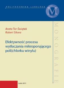 Efektywność procesu wytłaczania mikroporującego poli(chlorku winylu)